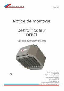 thumbnail of BHN thermique Destratificateur DEB2T notice 20.08