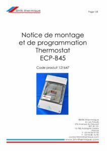 thumbnail of BHN thermique Thermostat ECP-B45 Notice de montage 20.06